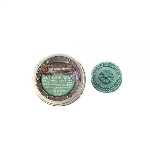 Art Alchemy- Metallic Wax- Mint Sparkle .68 oz. (20ml)
