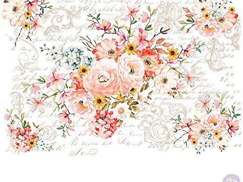 "Redesign Decor Transfer- Rose Celebration 44""x 30"""