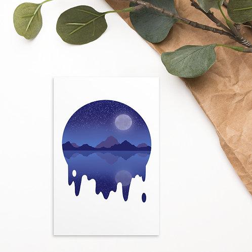 Blue Moon Mountain Standard Postcard