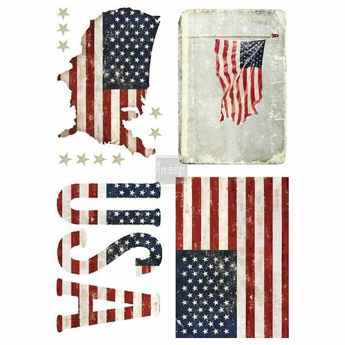 Patriotic – Redesign with Prima Rub-On Transfer (24″ x 34″ total size)