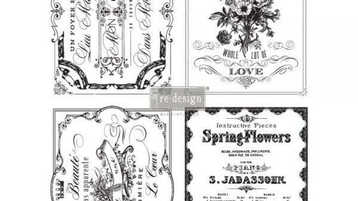 Spring Flowers – Redesign with Prima Rub-On Transfer (22″ x 30″ total size)