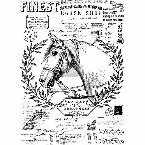 Fine Horsemen – Redesign with Prima Rub-On Transfer (24″ x 33″ total size)