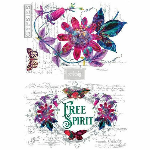 Passion Flower – Redesign with Prima Rub-On Transfer (22″ x 30″ total image size