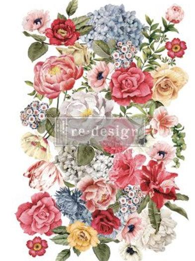 "Redesign Decor Transfer - Wondrous Floral II 23.5"" x 36"""