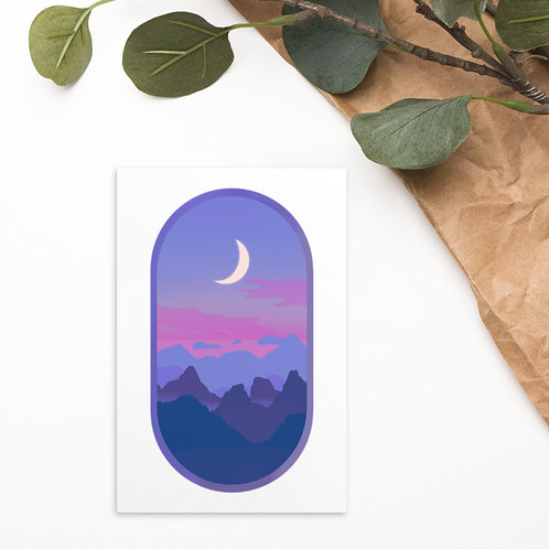 Cotton Candy Moon Standard Postcard