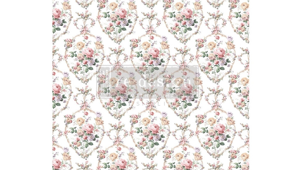 """Redesign Decor Transfer - Floral Court 24""""x35"""""""