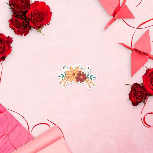 Sweet floral vinyl sticker