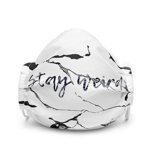 Stay Weird Premium face mask