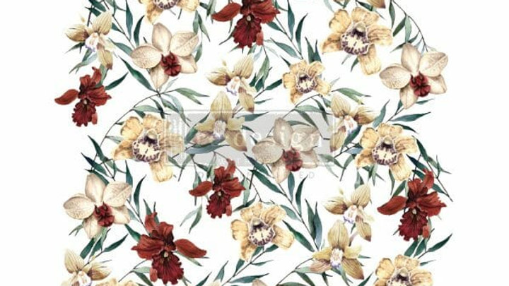 Wildflowers – Redesign with Prima Rub-On Transfer (24″ x 35″ total size)
