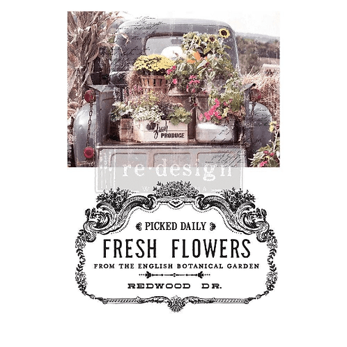 Fresh Flowers – Redesign with Prima Rub-On Transfer