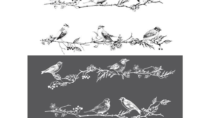 "Redesign Decor Transfer - Birds & Berries 26"" x 36"""