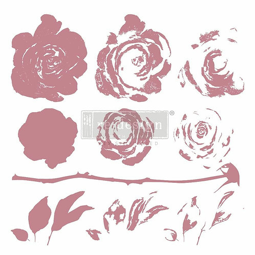 Mystic Rose – Clearly Aligned Stamps (12″ x 12″ clear cling, 10 pcs)