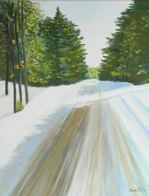 Winter Trails original oil painting (11 x 14)