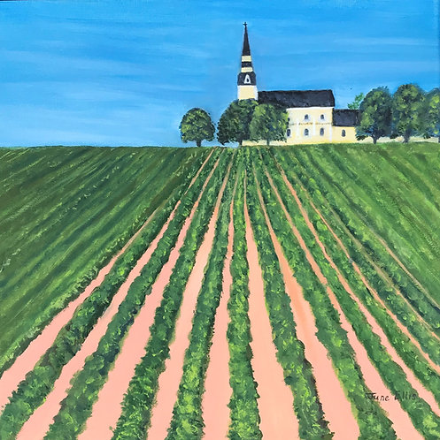 Potato Field in Grand River (original oil painting 12x12)