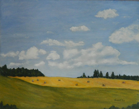 Clouds and Fields (original oil 11x14)