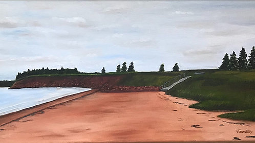 West Keppoch, Prince Edward Island - original oil painting (10x20)