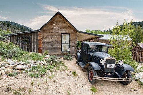 Model A Ford Pickup and Home