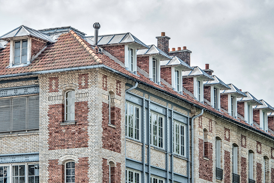 Brick Apartments in Paris
