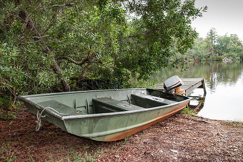 Skiff at The Mill Pond