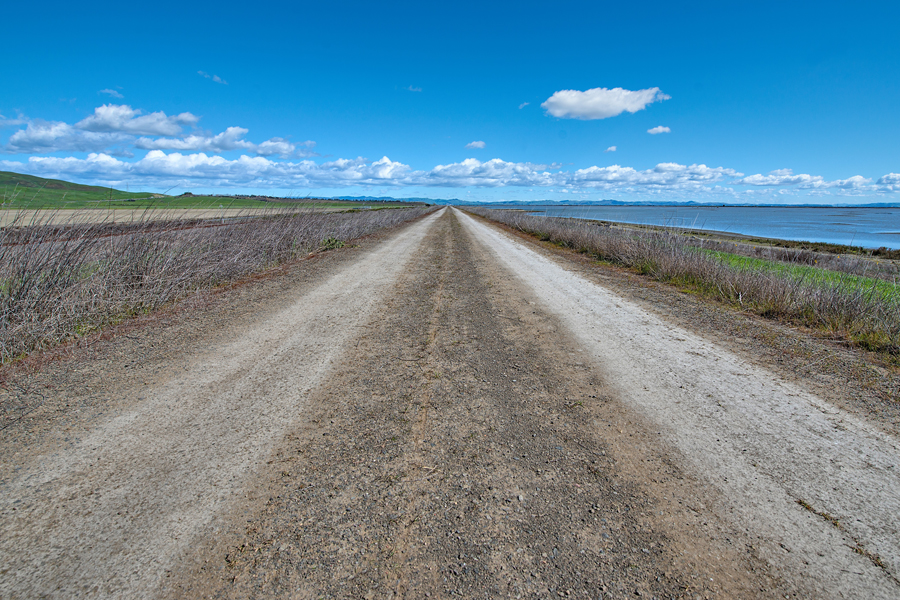 Road at San Pablo Bay