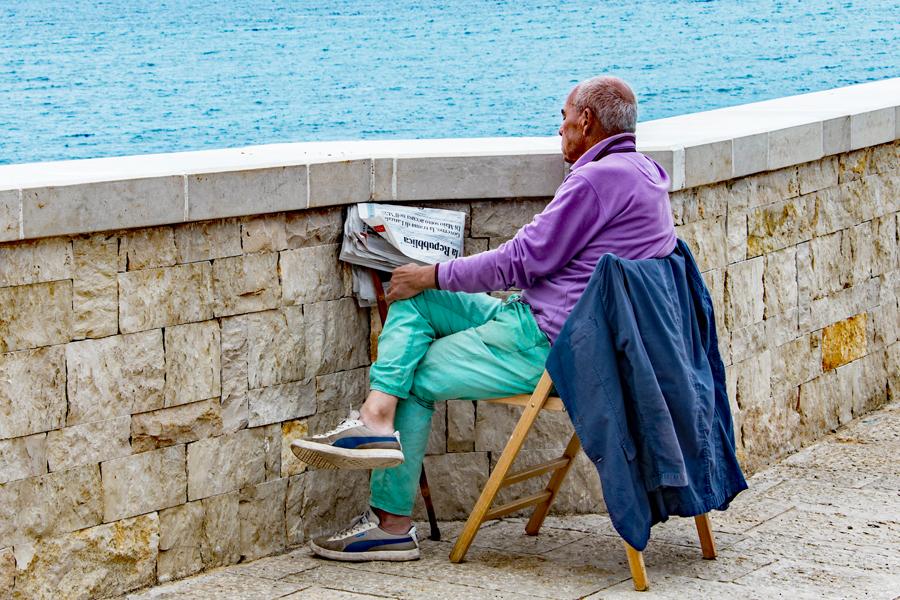 Coastline Man in Puglia