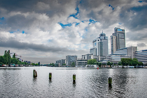 Cloudy Skies Over Amsterdam