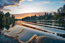Sunset on Willamette River