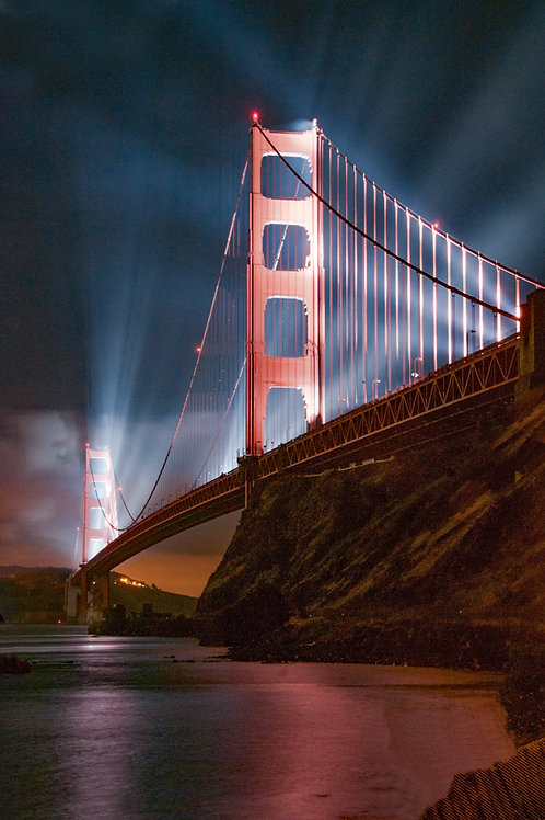 GG Bridge at Night, CA