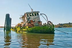 Ship Wrecked on Gold Beach