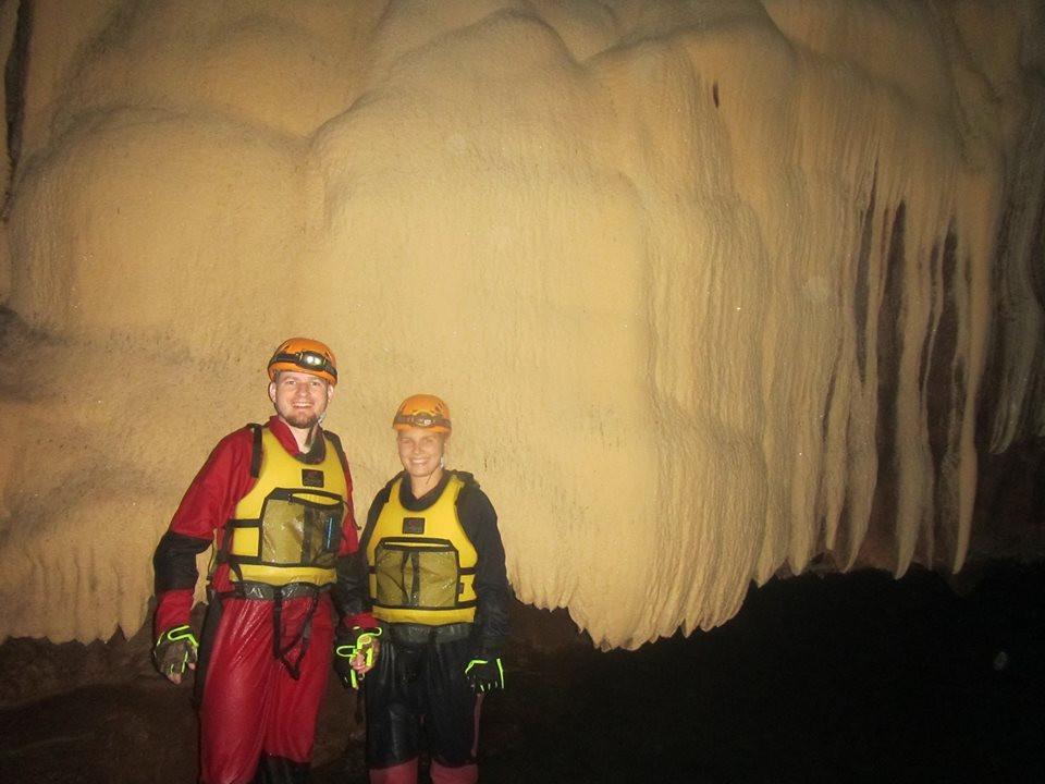 These foreign cavers pose for a souvenir photo inside the Lobo Cave in Jiabong, Samar. (Photo courtesy of Joni Bonifacio)