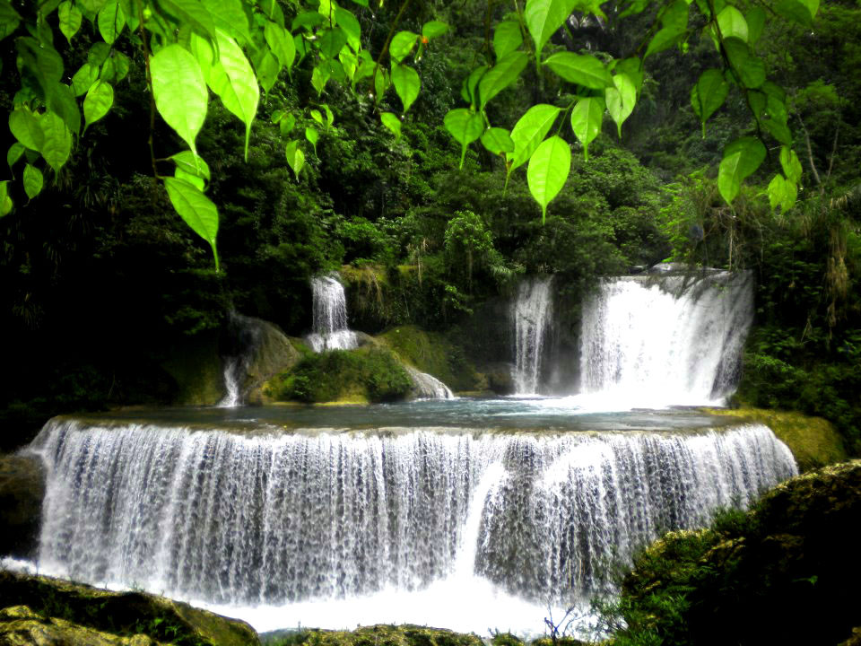 The Pinipisakan Falls in San Jorge, Samar is one of the places cavers would also want to visit to relax. The water of the falls comes out from the entrance of a cave. (Photo courtesy of Joni Bonifacio)