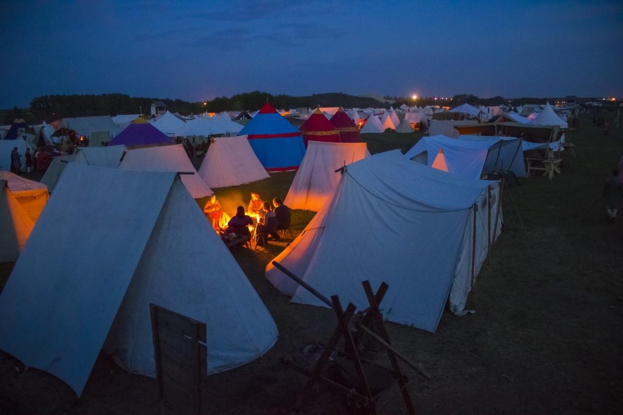 Наш лагерь на фестивале Русборг