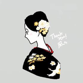 花嫁の髪飾り