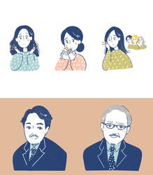 【WEB】大塚製薬LP挿絵・医師似顔絵イラスト