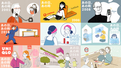 【WEB】日興フロッギー   「あの日、あの時から、100円毎日つみたてしていたら」の記事トップイラスト