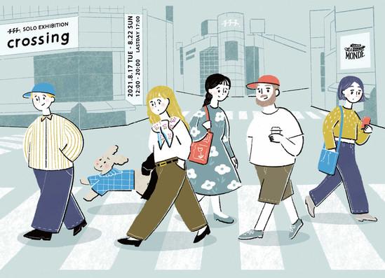 チチチ初個展「Crossing」