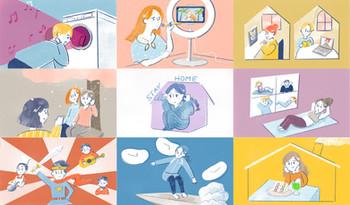 【WEB】博報堂WEBマガジン  「コロナ禍の若者達の暮らしと展望」のイラスト