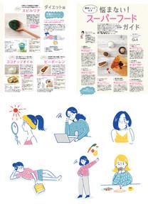 【MAGAZINE】HOT PEPPER Beauty 6月号巻頭特集「悩まない!スーパーフードガイド」のイラスト