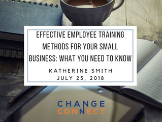 Effective Employee Training Methods for Your Small Business: What You Need to Know