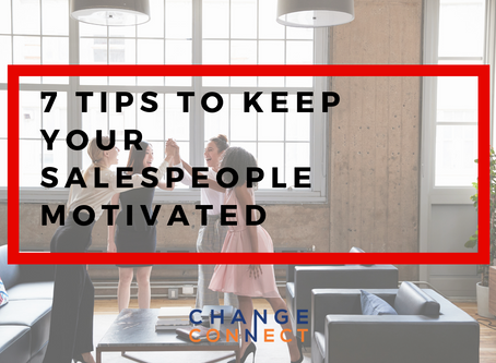 7 Tips To Keep Your Salespeople Motivated