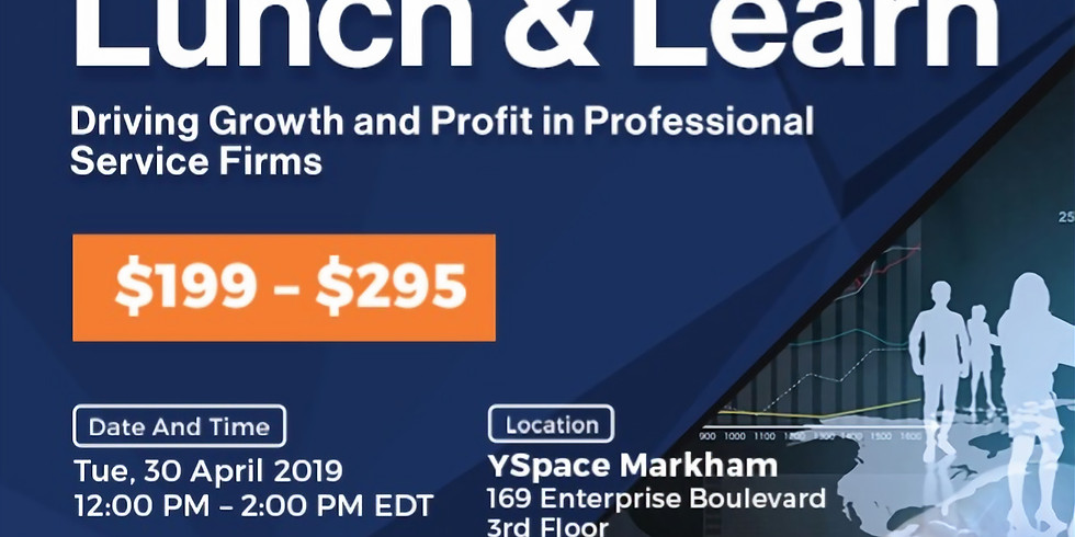 Change Connect Lunch and Learn - Driving Growth and Profit in Professional Service Firms