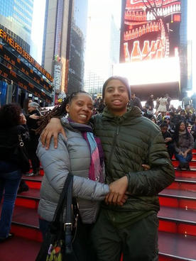 Me and my son chilling in nyc having fun