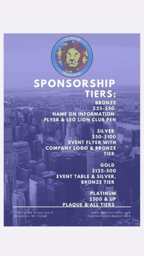Tiers for Leo Lion Club Foundation Inc