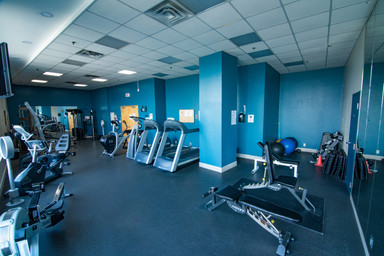 Clock Tower Lofts gym workout space