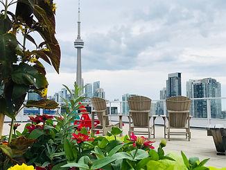 Toronto Rooftop patio skyline