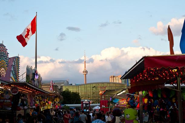 CNE Toronto skyline