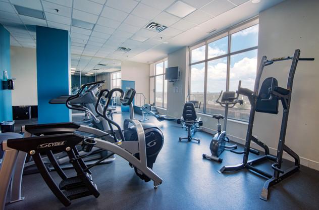 Clock Tower Lofts gym machines