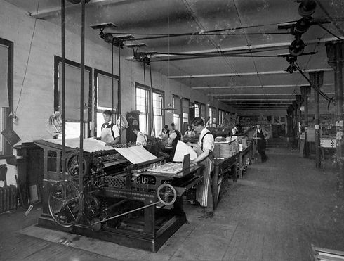A.A. Gray Press operators and typesetters