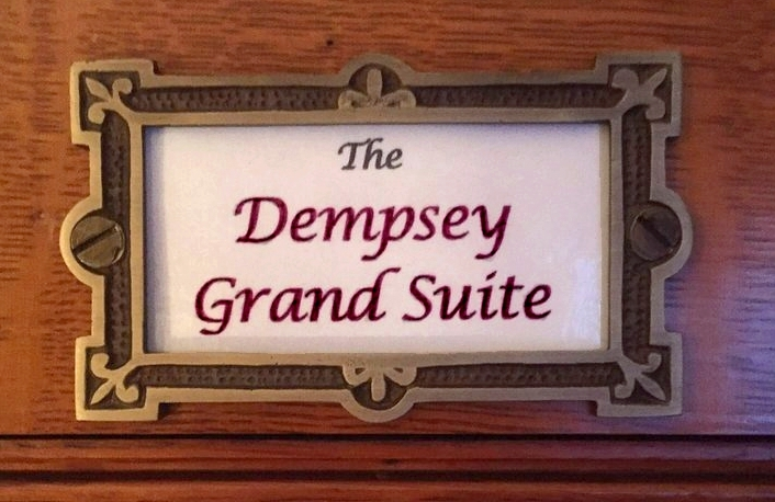 Plaque- The Dempsey Grand Suite