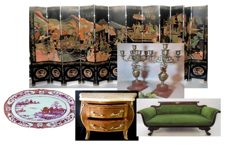 Collage of Period Furniture & Objets